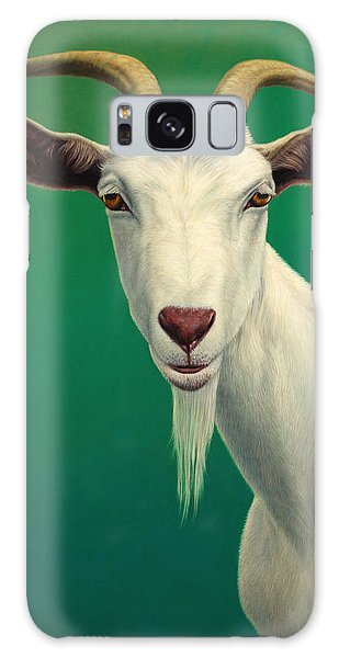 Wildlife Galaxy Case - Portrait Of A Goat by James W Johnson