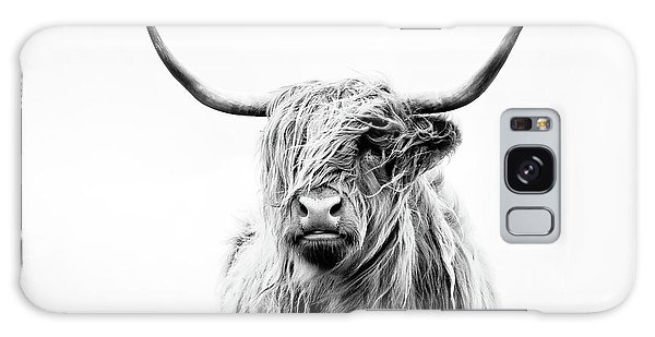 Furry Galaxy Case - Portrait Of A Highland Cow by Dorit Fuhg