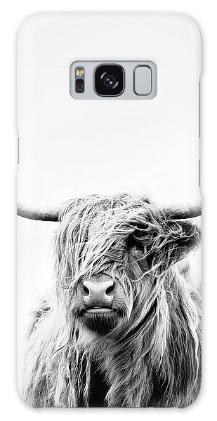 Cow Galaxy Case - Portrait Of A Highland Cow - Vertical Orientation by Dorit Fuhg