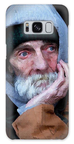Portrait Of A Homeless Man Galaxy Case