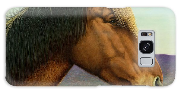 Equine Galaxy Case - Portrait Of A Horse by James W Johnson