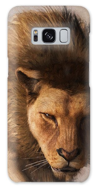 Portrait Of A Lion Galaxy Case by Daniel Eskridge
