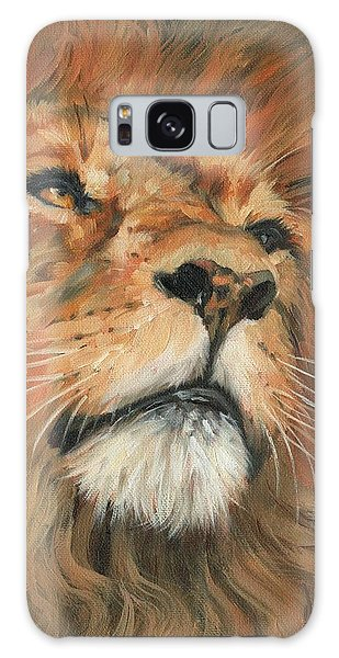 Portrait Of A Lion Galaxy Case by David Stribbling