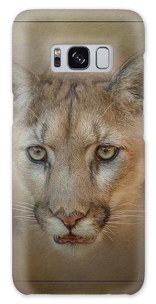 Portrait Of A Mountain Lion Galaxy Case