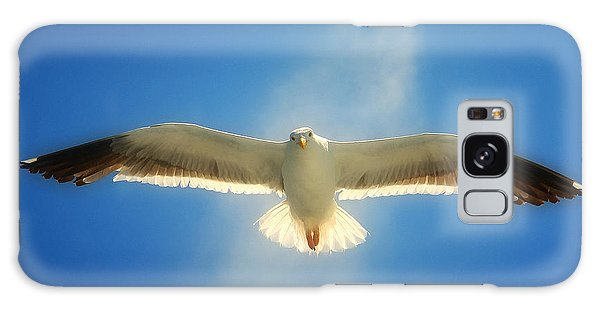 Portrait Of A Seagull Galaxy Case by John A Rodriguez