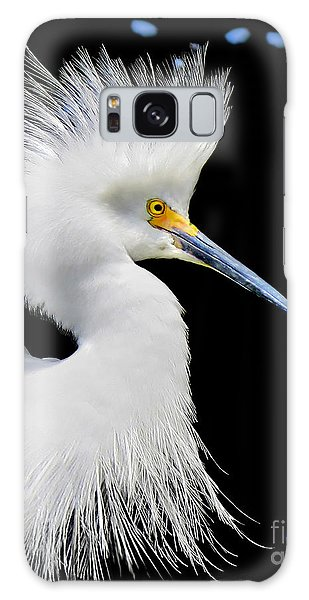 Portrait Of A Snowy White Egret Galaxy Case