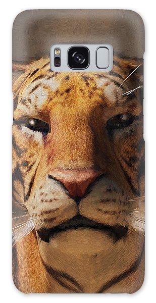 Portrait Of A Tiger Galaxy Case by Daniel Eskridge