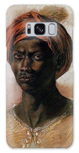 Turban Galaxy Case - Portrait Of A Turk In A Turban by Ferdinand Victor Eugene Delacroix