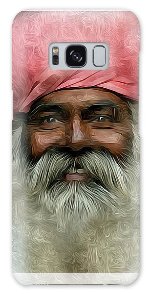 portrait of a villager Metal Print Galaxy Case by S Art