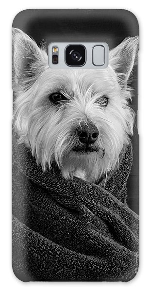 Portrait Of A Westie Dog Galaxy Case