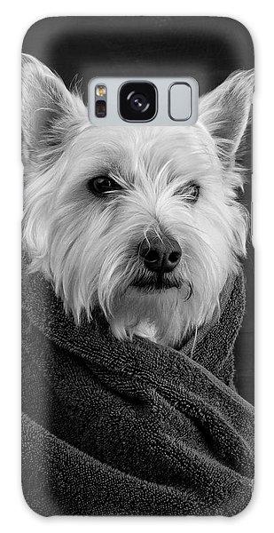 View Galaxy Case - Portrait Of A Westie Dog by Edward Fielding
