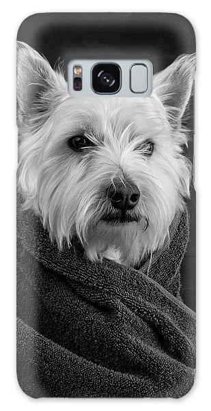 Portrait Of A Westie Dog Galaxy Case by Edward Fielding