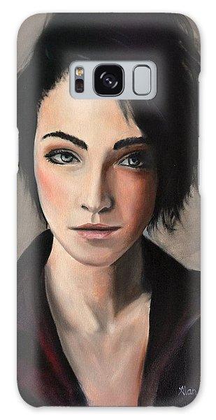 Portrait Of A Woman #2 Galaxy Case