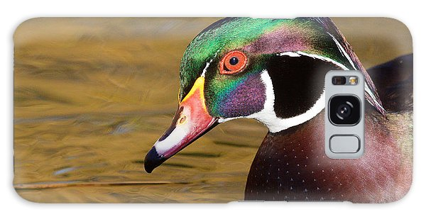 Portrait Of A Wood Duck  Galaxy Case