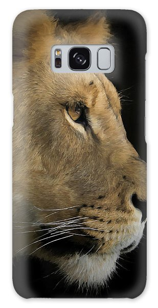 Portrait Of A Young Lion Galaxy Case by Ernie Echols