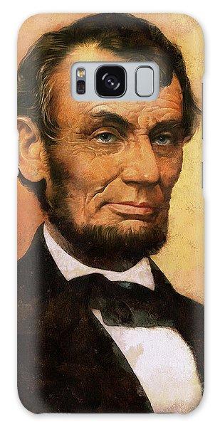Us Civil War Galaxy Case - Portrait Of Abraham Lincoln by Charmaine Zoe