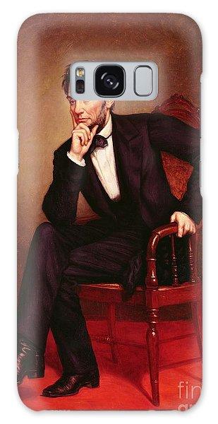 Portrait Of Abraham Lincoln Galaxy Case