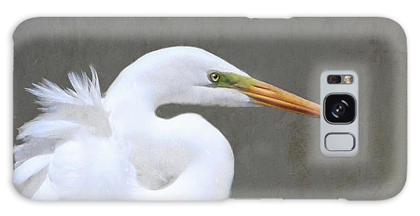Portrait Of An Egret Signed Galaxy Case