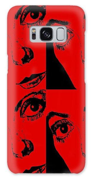 Portrait Of Catherine Pop Art Design Galaxy Case