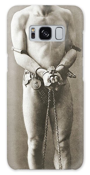 American Steel Galaxy Case - Portrait Of Harry Houdini In Chains, Circa 1900 by American School