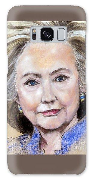 Pastel Portrait Of Hillary Clinton Galaxy Case