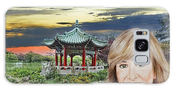 Portrait Of Jamie Colby By The Pagoda In Golden Gate Park Galaxy Case by Jim Fitzpatrick