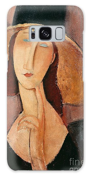 Portraits Galaxy S8 Case - Portrait Of Jeanne Hebuterne In A Large Hat by Amedeo Modigliani