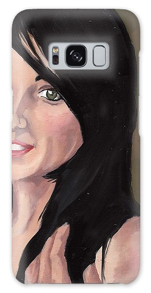Portrait Of Jessa Galaxy Case