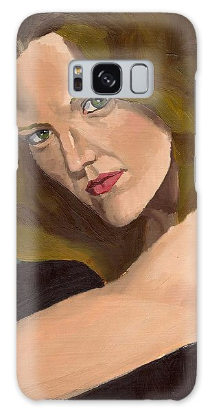 Portrait Of Kathy Arvidson Galaxy Case