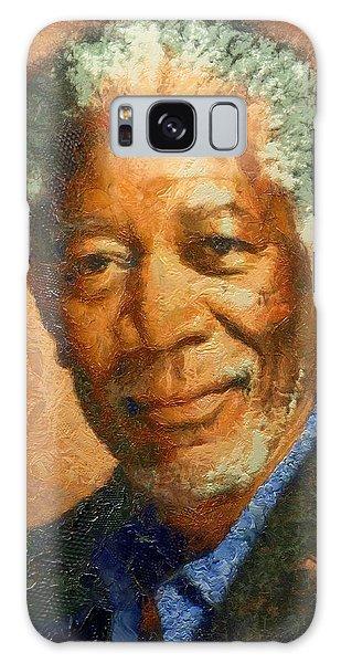 Portrait Of Morgan Freeman Galaxy Case