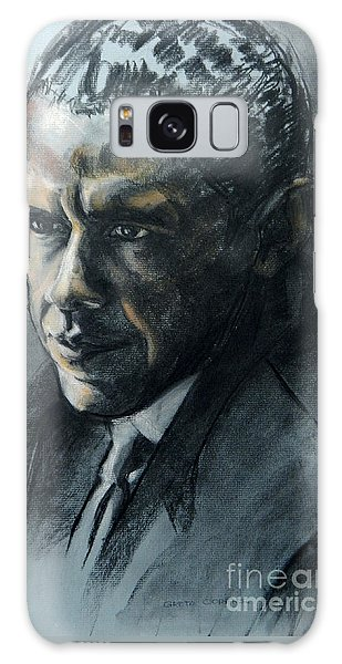 Charcoal Portrait Of President Obama Galaxy Case