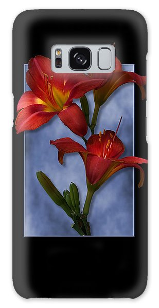 Portrait Of Red Lily Flowers Galaxy Case