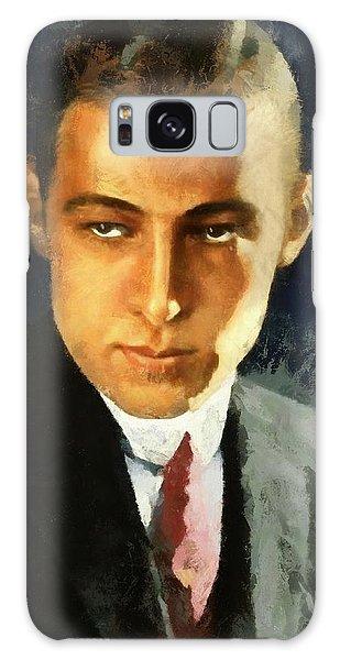 Portrait Of Rudolph Valentino Galaxy Case