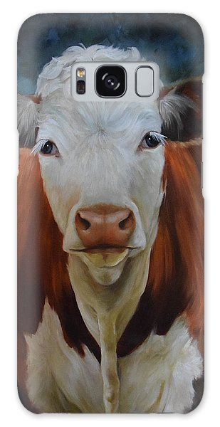 Portrait Of Sally The Cow Galaxy Case