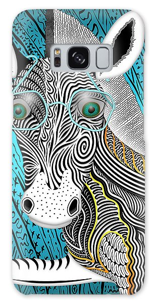 Portrait Of The Artist As A Young Zebra Galaxy Case