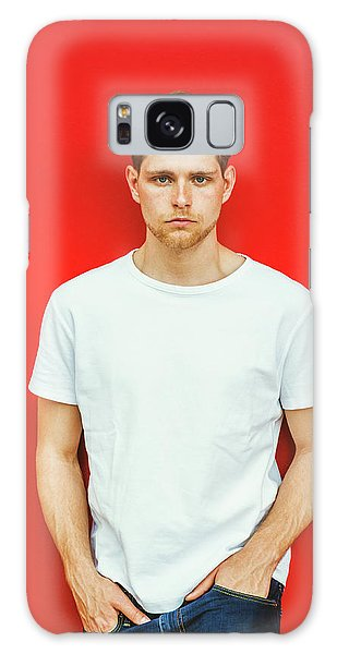 Portrait Of Young Handsome Man Galaxy Case