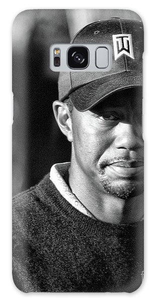 Portrait  Tiger Woods Black White  Galaxy Case