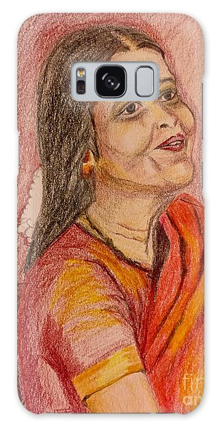 Portrait With Colorpencils Galaxy Case