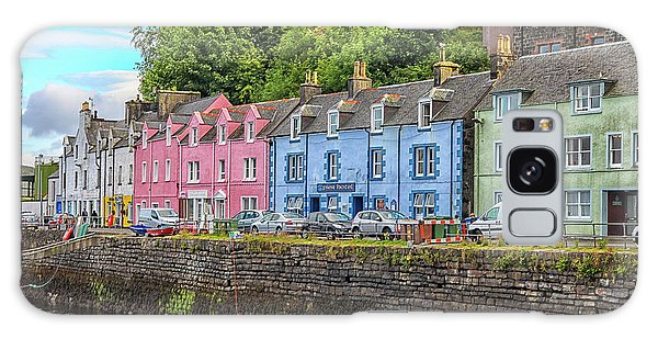 Portree Town On Skye, Scotland Galaxy Case