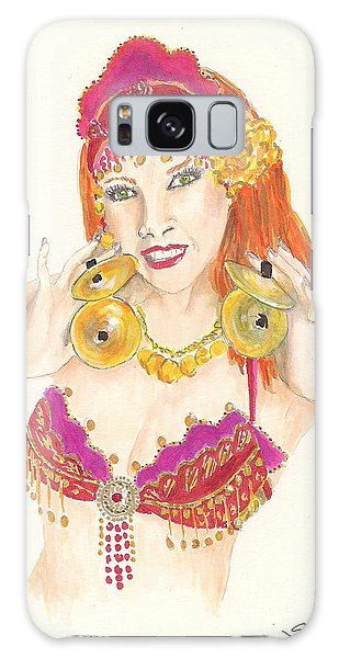 Portrait Of The Artist Playing Zills -- Belly Dancer Self-portrait Galaxy Case