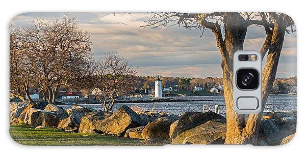 Portsmouth Harbor Light At New Castle Commons Galaxy Case by Nancy De Flon