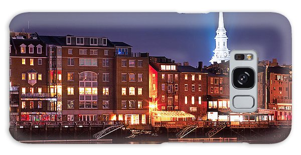 Portsmouth Waterfront At Night Galaxy Case