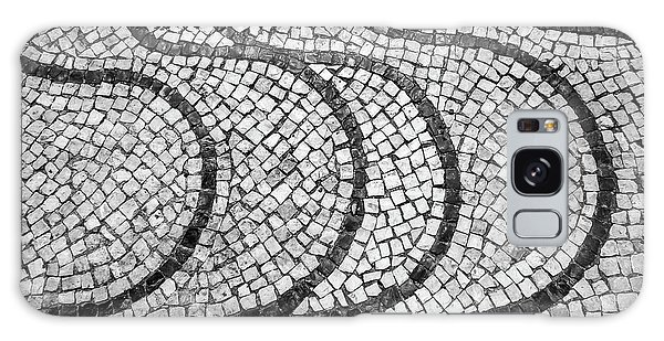 Portuguese Pavement Patterns In Cascais Galaxy Case