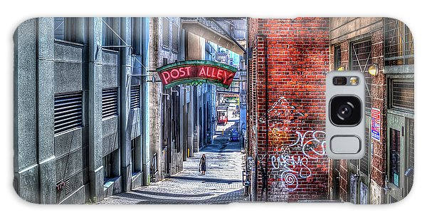 Post Alley Straggler Galaxy Case by Spencer McDonald