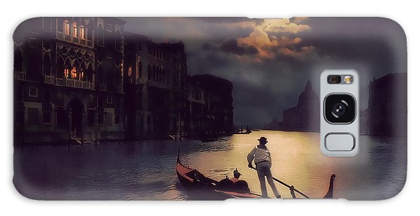 Postcards From Venice - The Red Gondola Galaxy Case