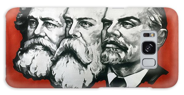 Philosopher Galaxy Case - Poster Depicting Karl Marx Friedrich Engels And Lenin by Unknown