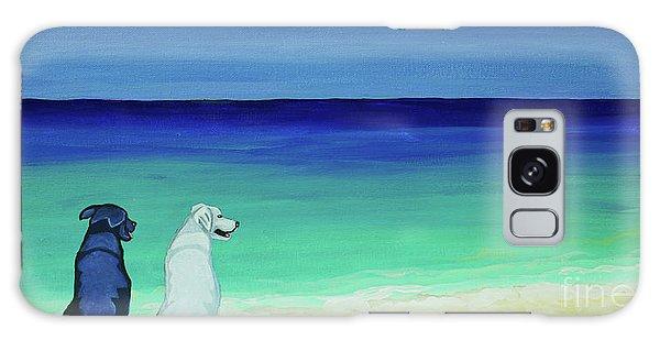 Lab Potcake Dogs On The Beach Galaxy Case