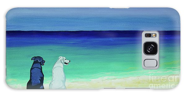 Lab Potcake Dogs On The Beach Galaxy Case