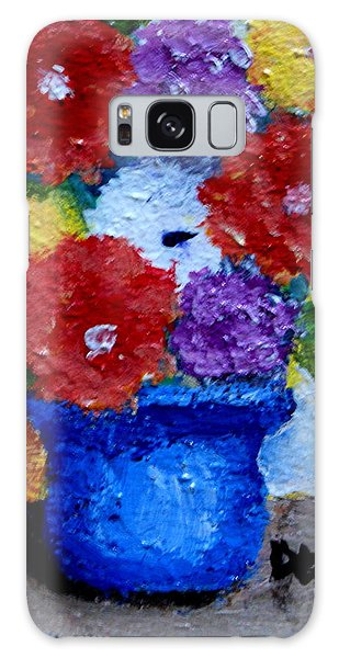Potted Flowers Galaxy Case
