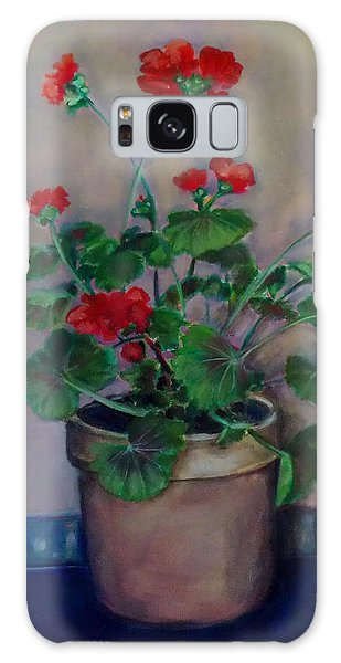 Potted Geranium Galaxy Case